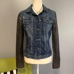 Express Jean Jacket with Metallic Sleeves C3
